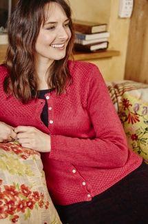 Essential Knit Cardi Plain - Dark Pink