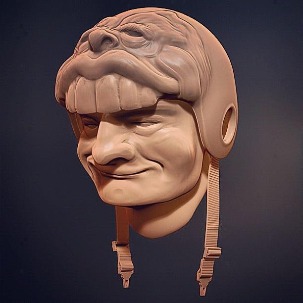 Helmet Head   ZBrush Dynamesh Sketch