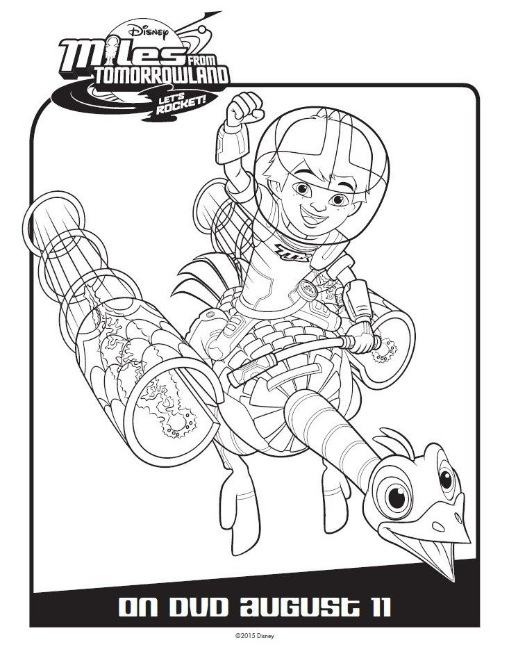 Miles From Tomorrowland activity and coloring pages will keep your child entertained any day. Join Disney Junior's Miles through Tomorrowland adventures! Miles from Tomorrowland Coloring Pages