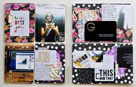 Pocket Page Scrapbooking by Kasia Tomaszewska using the new Anna-Marie Collection! #pocketpagescrapbooking #scrapbooking
