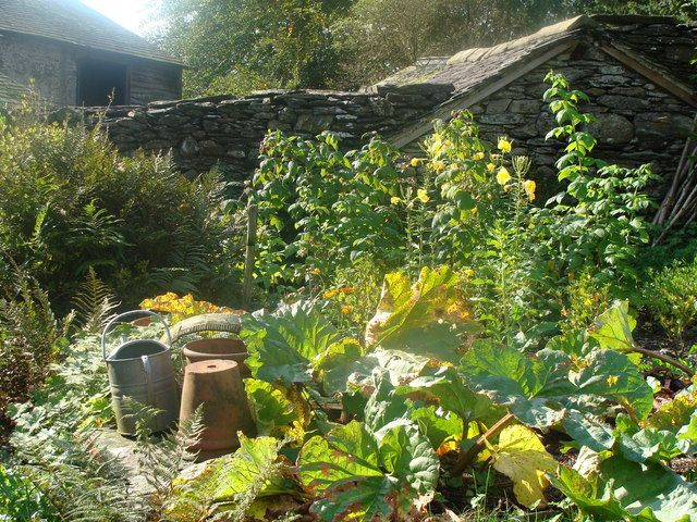 """Mr. McGregor's Garden"" at Hill Top Farm, England (Beatrix Potter's Cottage)"