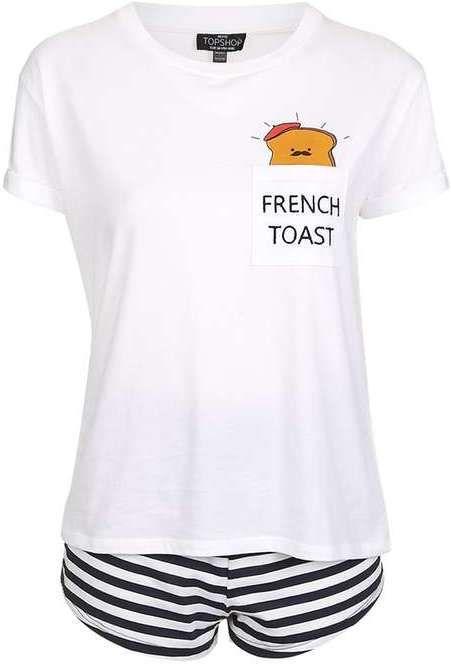 Petite french toast pyjama set