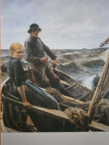 Merellä (At sea, 1883) by famous finnish painter Albert Edelfelt.