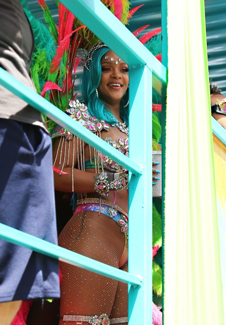 Rihanna at the 2017 Crop Over Festival in Barbados