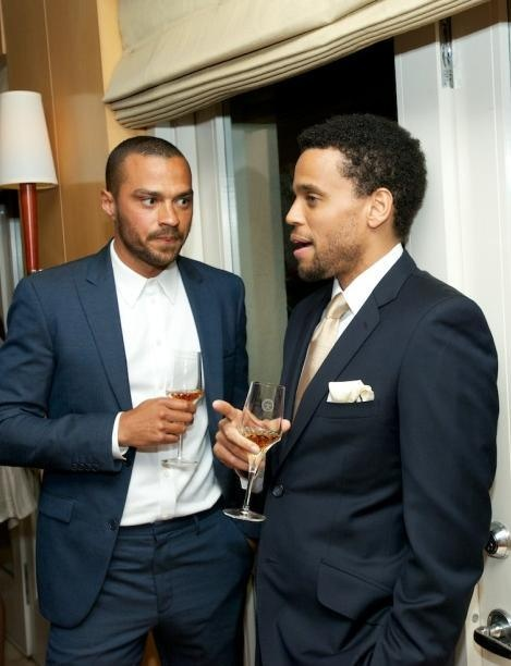 Jesse Williams & Michael Ealy Oh, I wonder what these two could be talking about, their eyes?? :/ LOL
