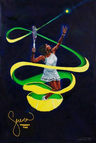 "Serena Williams Painting ""one"" by Veramaria.com"