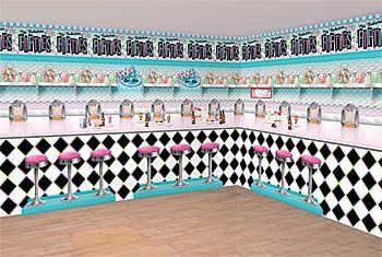 Sock Hop Scene Setter Turn Any Room Into A Soda Shop