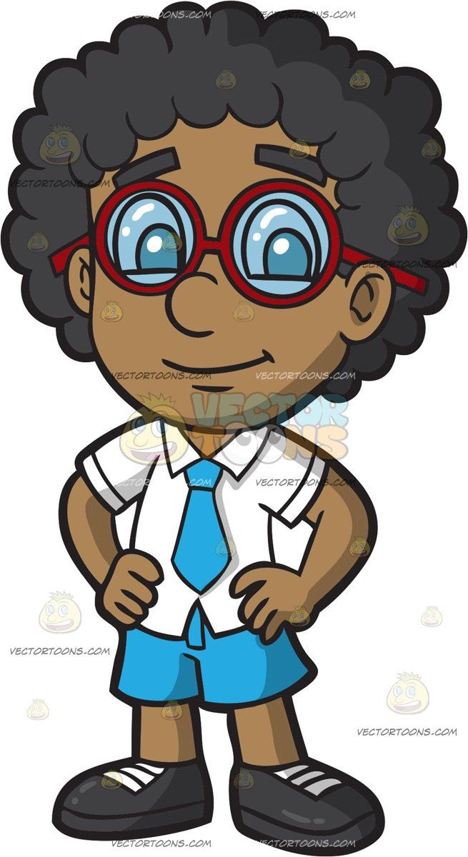 A Black Primary School Boy In His School Uniform A Black Boy With Curly Hair Wearing A White Shirt With Collar Boys With Curly Hair School Boy Kids Clipart