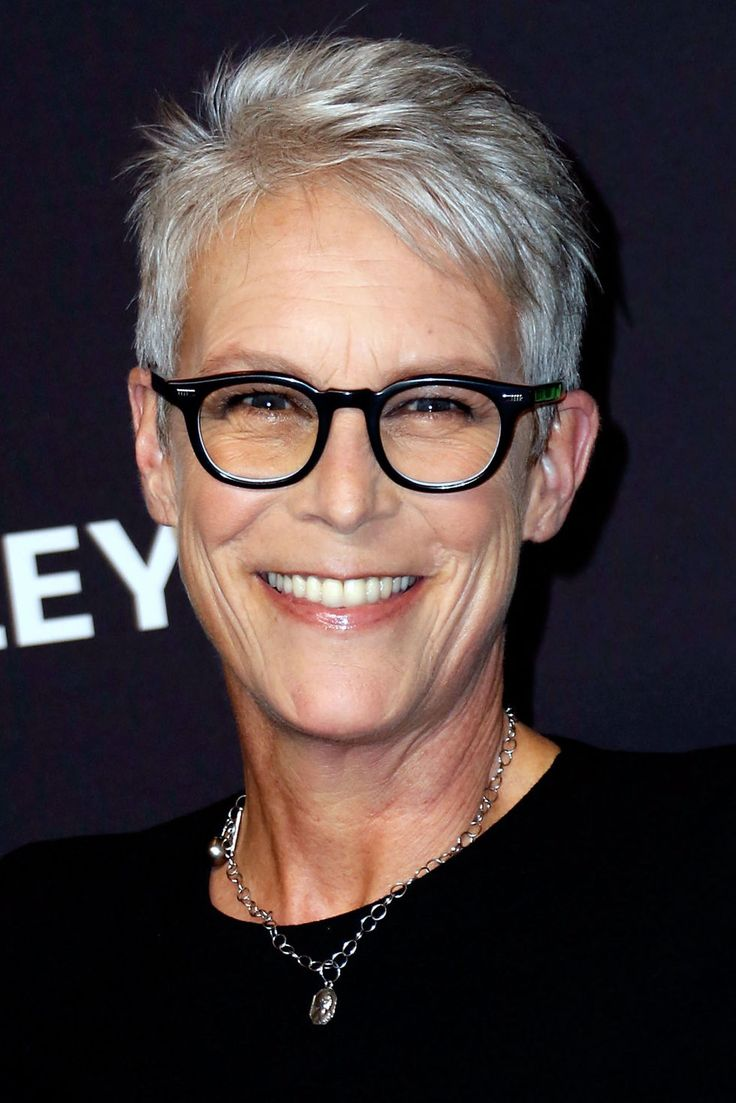 By far, the easiest way to go gray is to get a short cut. The silver will naturally blend in with your hair color as your hair grows — if you even want to grow it out. Jamie Lee Curtis has had this short, chic cut for years!