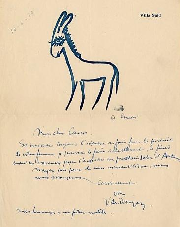 Van Dongen letter