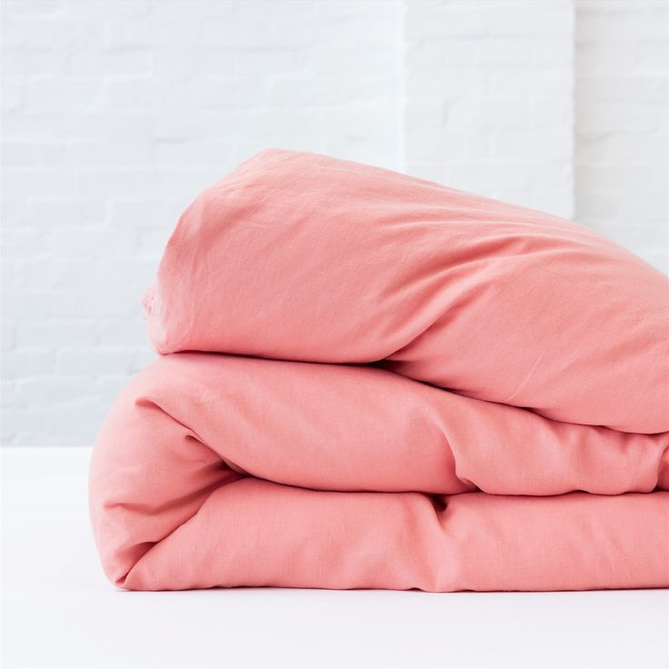 REVERSIBLE DUVET COVER - DUSK PINK / BLUSH