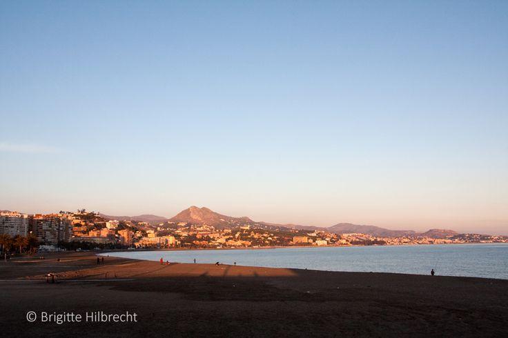 #Málaga #beach #sunset / All places of interest you'll find here: http://www.amazon.co.uk/M%C3%A1laga-Capital-Coast-Brigitte-Hilbrecht/dp/1517300533/ref=sr_1_1?s=books&ie=UTF8&qid=1456574193&sr=1-1&keywords=malaga