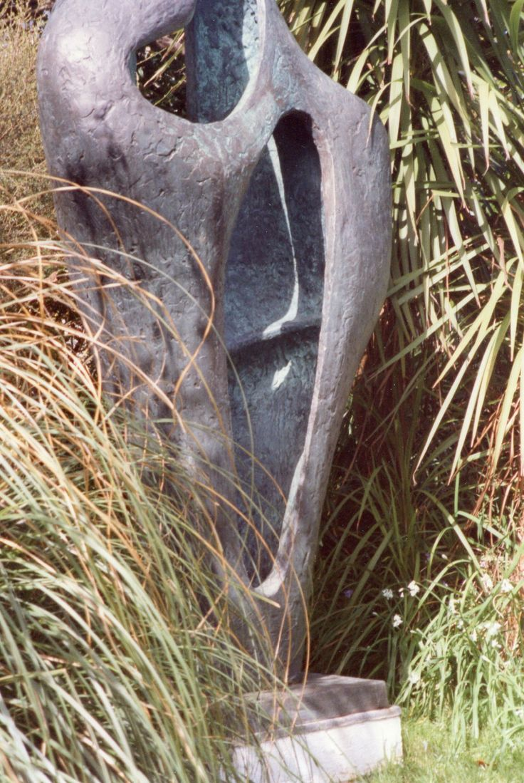 Barbara Hepworth Figure for a Landscape  Shown in situ at the Hepworth Garden, St Ives Cornwall. Photographed by R Freeman, 1994