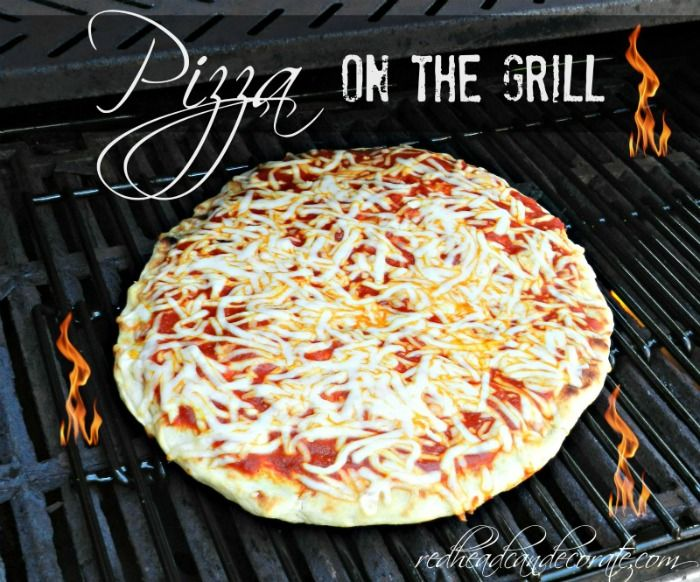 Pizza on the Grill...yum yum.