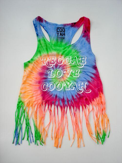 REGGAE LOVE FRINGE CROP TOP... This Bright & Vibrant Tie Dye Crop Top Is…