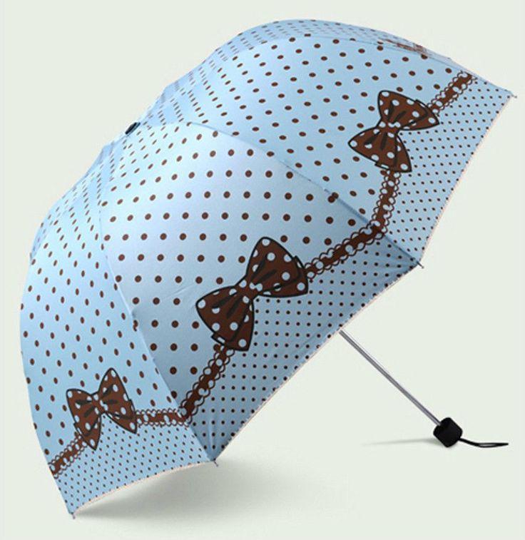 Polka dot bow umbrella