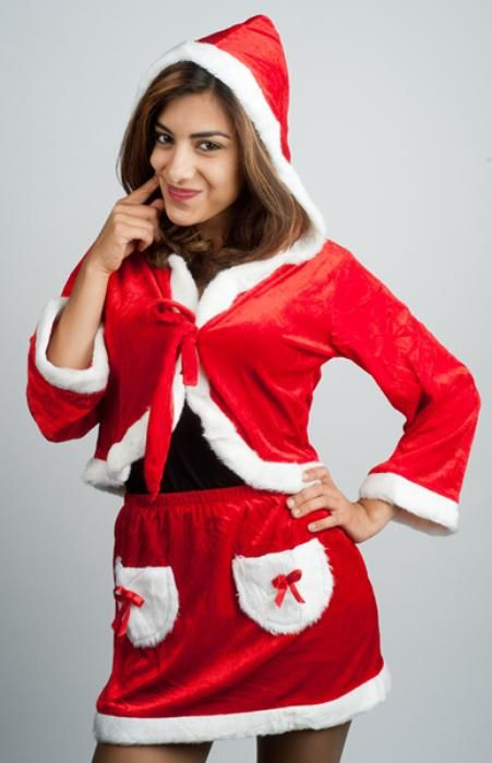 woman santa dress - Las Fiestas