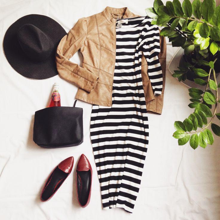 l'un de nos robes préférées (robe:$29.98, manteau:$69.98) #montreal #mode #fashion #flatlay #ootd www.republiquecollection.com