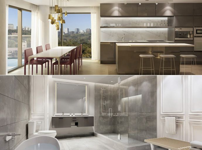 The interior finishes include Poliform kitchens, vanities and closets in addition to Gaggenau kitchen appliances, all firsts in the Toronto real estate market.