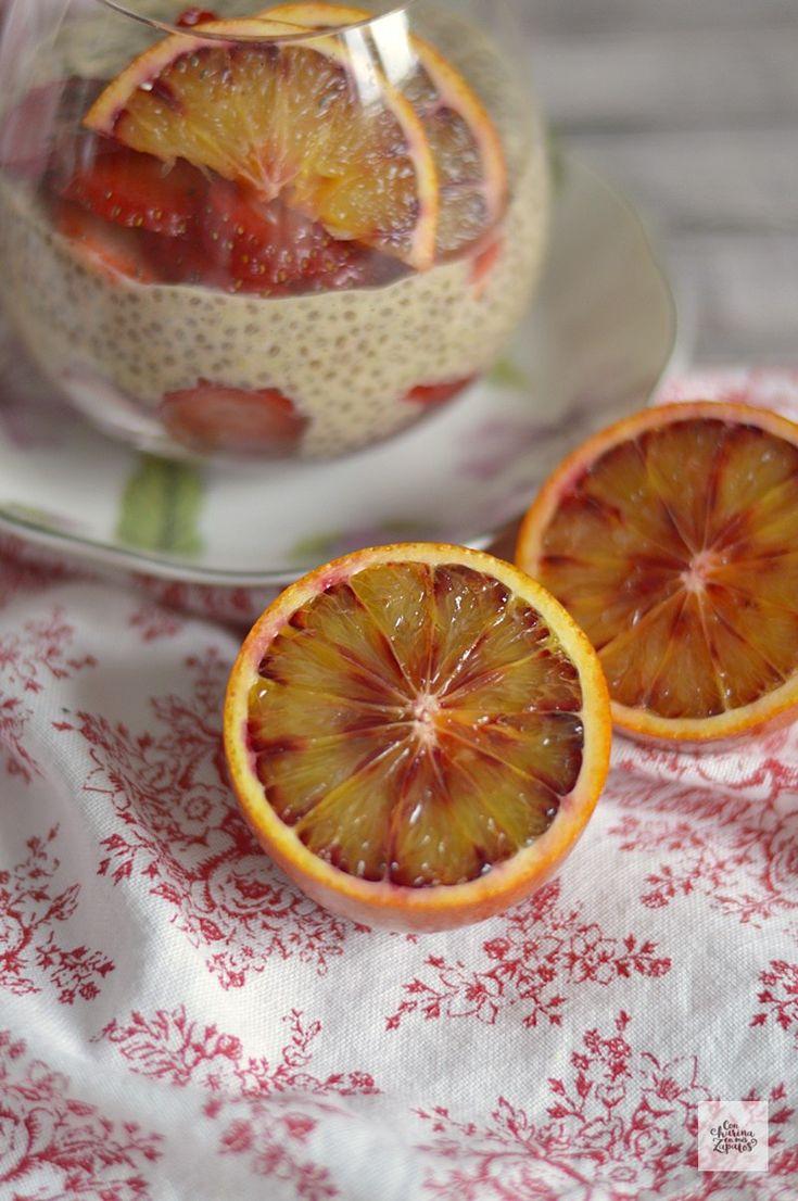 Pudding de Avena, Chía y Naranja Sanguina | CON HARINA EN MIS ZAPATOS
