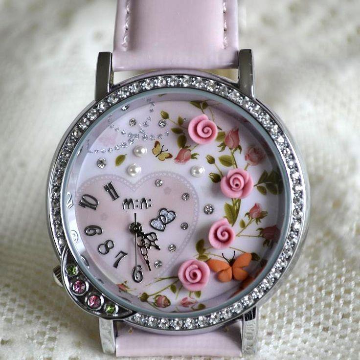 MINI hodinky - Růžová zahrada