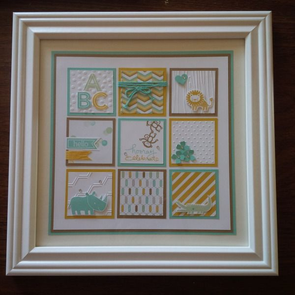 Zoo Babies Framed Art for Baby Boy