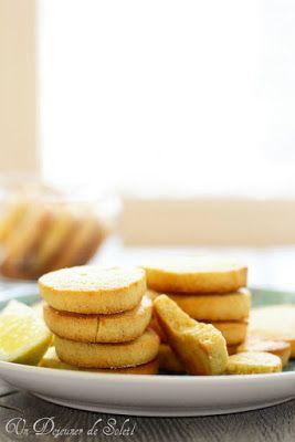 Sablés au citron (lemon meltaways)
