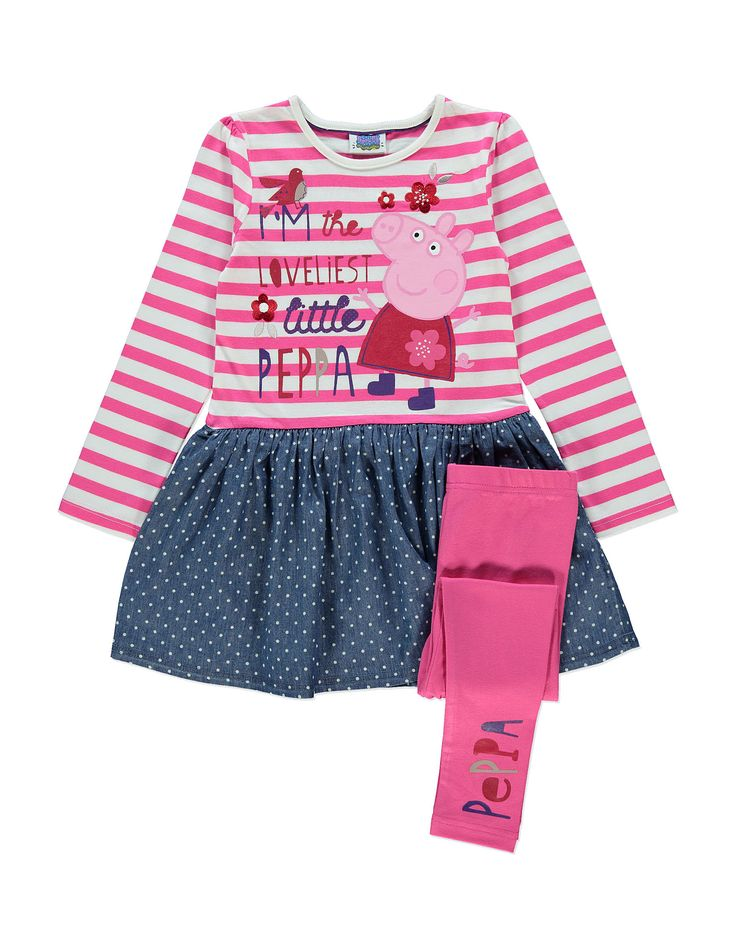 Peppa Pig Dress and Leggings Set from George at ASDA