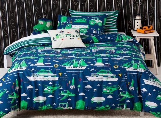 Kids Journey Quilt Set from KAS, available at Forty Winks.