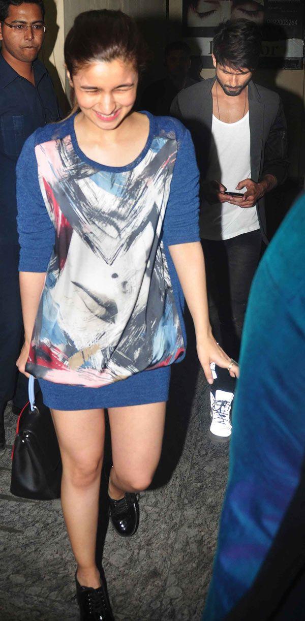 Alia Bhatt and Shahid Kapoor at special screening of 'Ugly'. #Bollywood #Fashion #Style #Beauty