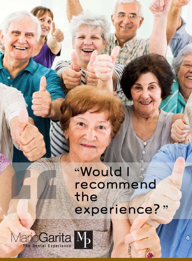Pin by Mario Garita Dental Experience on Testimonials All