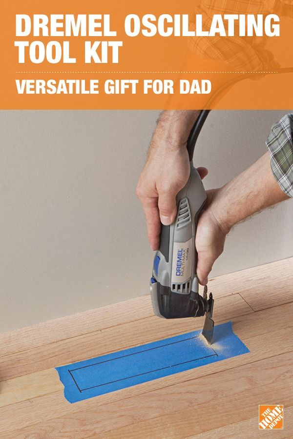 With 10 different accessories, the Dremel Multi-Max Oscillating Tool Kit is ready to tackle whatever project Dad's facing. Great for sanding, cutting wood and drywall, and removing grout, this versatile tool allows you to do detailed work in tight spaces. Click to learn more about your next gift for Dad.