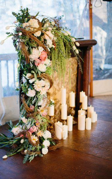 Idea decorativa para un rincón de la boda. Créditos: Kristina Lorraine Photography