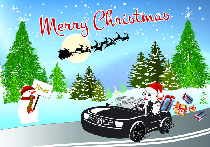 Christmas Card for the Mobile Beautician