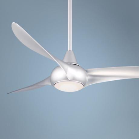"LIVING ROOM 52"" Minka Aire Light Wave Silver Ceiling Fan"