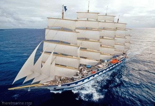 Le Royal Clipper, un cinq-mâts de 134 mètres de long. crédits : STAR CLIPPERS.