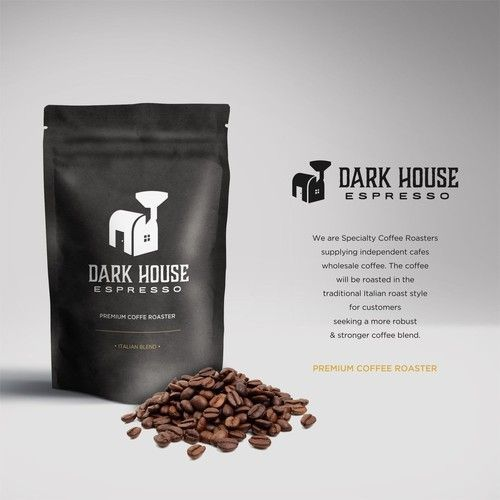 Dark House Espresso - Dark House Espresso needs a logo! We are Specialty Coffee Roasters supplying independent cafes wholesale coffee. Dark House will be our secondary, more... #coffeeroaster