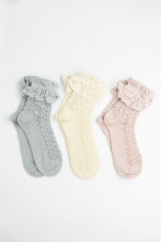 Ruffle Lace Ankle Sock – re-find Store