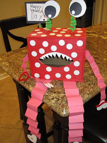 """Cool Valentine Boxes   Introducing the """"Love Monster"""""""
