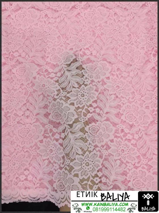 kain Kebaya semi Prancis Terbaru Warna Pink