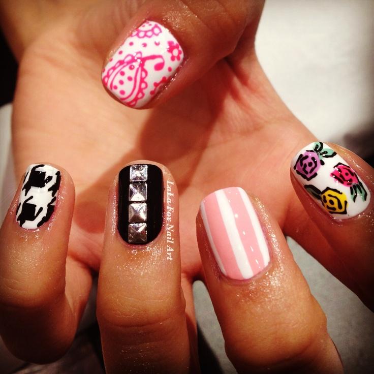 Mix n Match Nail Art Wah nails style