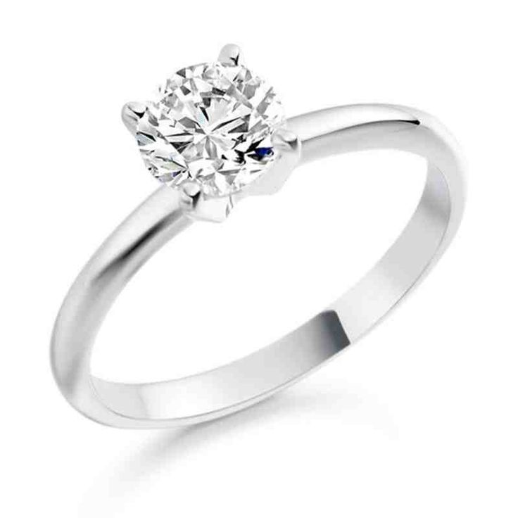 Simple Diamond Engagement Rings