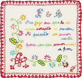 Casa de Retalhos: Lenços dos Namorados ♥ Portuguese folk art