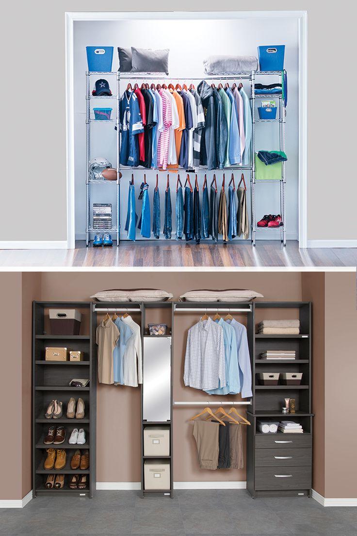 M s de 25 ideas incre bles sobre organizar los armarios de for Closet armables economicos