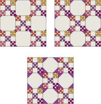 Snowball Quilt Block Pattern free on About.com Quilting at http://quilting.about.com/od/blockofthemonth/ss/snowball_block.htm