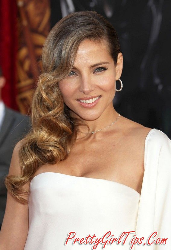 @prettygirltips Elsa Pataky Side Parted Ombre Retro Hairstyle for Winter