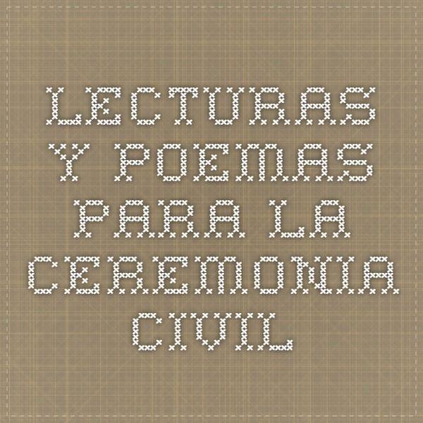 Lecturas y poemas para la ceremonia civil