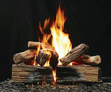 Awesome gas log set that gives a realistic look & feel while adding efficiency to your open burning fireplace.