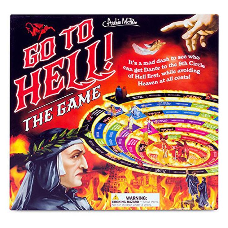 Go To Hell The Board Game NEW Funny Joke Games Teen Adult Fun #Accoutrements