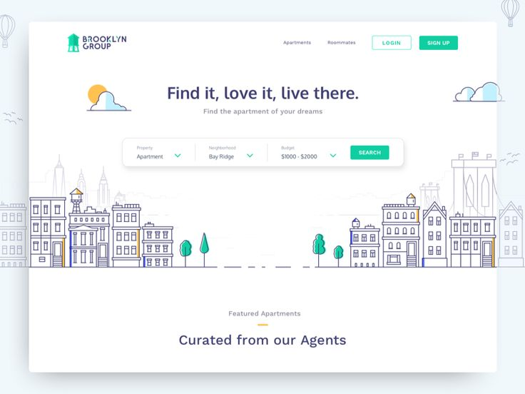 Our first shot for an apartment rental website we're designing and developing. A website thats helps you find the apartment of your dreams within your budget and location. The illustration designed...